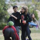 Selma Blair and Roselyn Sanchez – Working Out at a Park in Studio City - 454 x 616