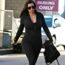 Kim Kardashian: hits the gym early in Studio City