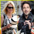 January Jones and Adrien Brody
