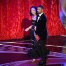 Tessa Thompson and Michael B. Jordan at the 91st Annual Academy Awards - Show - 454 x 303