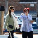 Sharon and Aimee Osbourne out in Venice