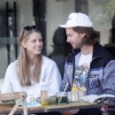 Abby Champion and Patrick Schwarzenegger – Spotted while out for lunch at Kreation in Brentwood - 454 x 350