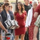 "Salma Hayek: on the set of ""Grown Ups 2"" in Marblehead"