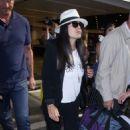 Salma Hayek – Arrives at LAX airport in LA - 454 x 681