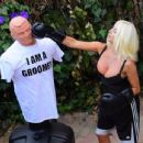 Courtney Stodden – Takes shots at her ex Doug Hutchinson punching shirt in Beverly Hills - 454 x 346
