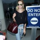 Candice Swanepoel At Lax Airport