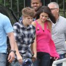 Justin Bieber and Selena Gomez are spotted leaving a steakhouse in Rio de Janeiro 10/4/2011