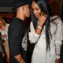 Fashionable friends! Lewis Hamilton cosies up to supermodel Naomi Campbell as they attend exclusive bash in London