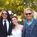 Mike Inez wedding to Sydney Kelly with friend Matt Sorum