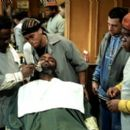 Cedric The Entertainer, Michael Ealy, Troy Garity and Leonard Earl Howze in MGM's Barbershop - 2002