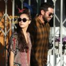 Cara Santana have lunch with friends Joe Jonas and his girlfriend Blanda Eggenschwiler at Little Dom's Deli in Los Feliz, California on December 29, 2013