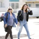 Milla Jojovich with her mother Galina Loginova in West Hollywood - 454 x 553