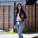 Jessica Gomes – Arriving at a friend's Memorial Day barbecue in LA - 454 x 584