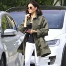Jenna Dewan in White Jeans – Out and about in LA