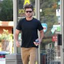 Zac Efron: made a stop at a Studio City gas station