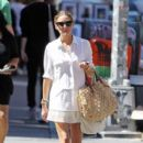 Olivia Palermo: goes for a walk in New York City