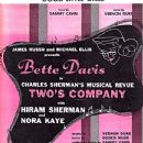 Two's Company Original 1952 Broadway Musical Starring Bette Davis - 347 x 500