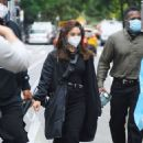 Vanessa Hudgens – Wearing mask and shield on the set of 'Tick, Tick…Boom!' in NYC