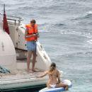 Ann-Kathrin Brommel and Anna Sharypova in Bikini on holiday in Mallorca - 454 x 556