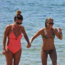 Sylvie Meis Bikini Candids On The Beach In Ibiza