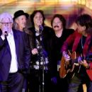 Musicians Michael McDonald, Patrick Simmons, John McFee and Tom Johnston of the Doobie Brothers and musican Richie Sambora perform onstage at the 32nd Annual ASCAP Pop Music Awards at the Loews Hollywood Hotel on April 29, 2015 in Los Angeles, California.