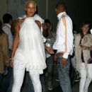Amber Rose and Chris Brown at the White Party After Party at Guys and Dolls Lounge in Los Angeles, California - July 4, 2009