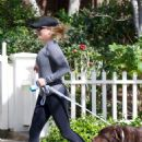 Reese Witherspoon With Her Dog out in Los Angeles