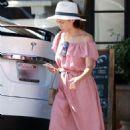 Jenna Dewan in Long Dress – Shopping in Studio City