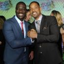 Adewale Akinnuoye-Agbaje and Will Smith at 'Suicide Squad' Premiere in New York 08/01/2016 - 454 x 681