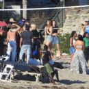 April Love Geary attends a beach party in Malibu - 454 x 340