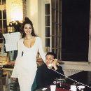 Luciana Gimenez with Azzedine Alaïa in 1995