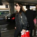 Kyle Richards is arriving from a flight Friday, October 14, 2016 Los Angeles Int'l Airport (LAX)
