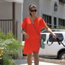Eva Mendes: heading to salon while walking her dog in Los Angeles