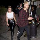 Anastasia Karanikolaou and Anwar Hadid – Leaving the Delilah club in West Hollywood