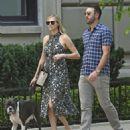 Kate Upton and Justin Verlander walk their dog Harley in New York City