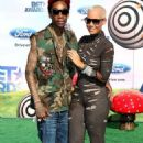 Amber Rose and Wiz Khalifa Attend The 2011 Bet Awards held at The Shrine Auditorium in Los Angeles, California - June 26, 2011 - 454 x 733