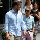 Olivia Palermo and her boyfriend Johannes Huebl go for a stroll in New York City on July 24, 2013