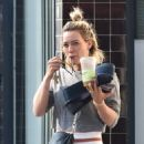 Hilary Duff – Out for a workout in Studio City