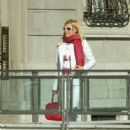Michelle Hunziker In White Business Suit Out And About In Milan - Mar 17 2008