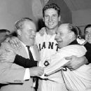 Bobby Thomson & Leo Durocher In 1951
