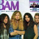 Nick Menza, Marty Friedman, Dave Mustaine & Dave Ellefson - 454 x 625