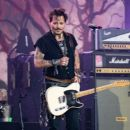 Johnny Depp is seen performing with his band Hollywood Vampires at 'Jimmy Kimmel Live' in Los Angeles, California on June 13, 2019 - 454 x 390