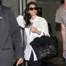 Kourtney Kardashian: at LAX airport in Los Angeles
