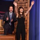 Jessica Biel on 'The Tonight Show Starring Jimmy Fallon' in New York - 454 x 683
