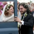 Kit Harington and Rose Leslie – Arriving at their wedding in Scotland - 454 x 309