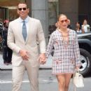 Jennifer Lopez and Alex Rodriguez – Heading to an office building in NYC