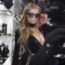 Paris Hilton at the Philipp Plein store in Milan