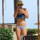 Kaley Cuoco Wearing A Bikini At A Pool In Mexico