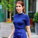 Emma Roberts in royal blue outfit out in New York - 454 x 601