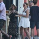 Imogen Thomas and Nikki Graham – Wearing summer dresses at Callooh Calley bar in Londons's Chelsea